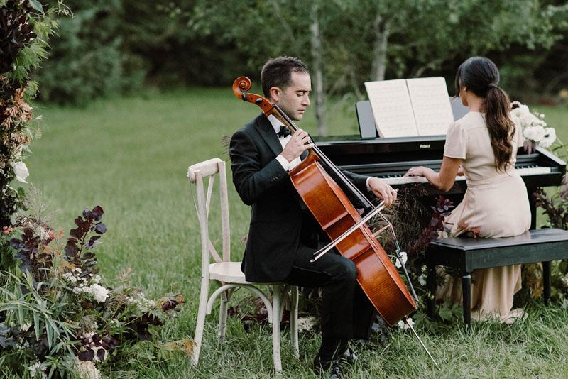 Luxe Duo Music - Brandon Dian Cello Piano - Wedding Musicians Ottawa Corporate Event Musician Private Concerts - From the Garden Editorial-623
