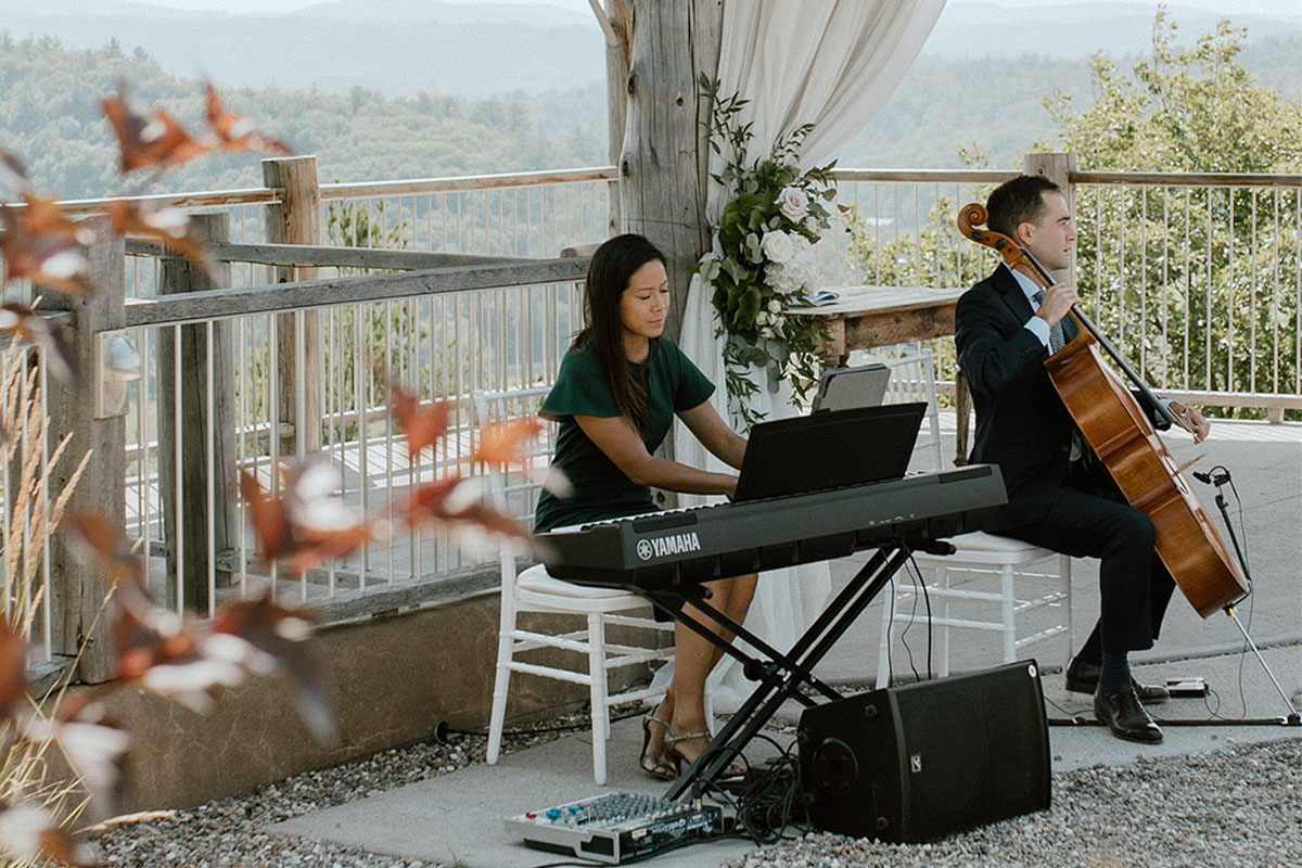 Luxe Duo Music - Brandon Dian Cello Piano - Wedding Musicians Ottawa Corporate Event Musician Private Concerts - Rosielle and Co Le Belvedere Behind the Scenes Shoot 21